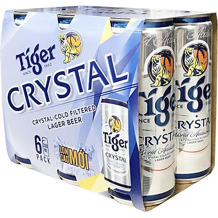 Lốc 6 lon Tiger Crystal lon cao mới (330ml/lon)