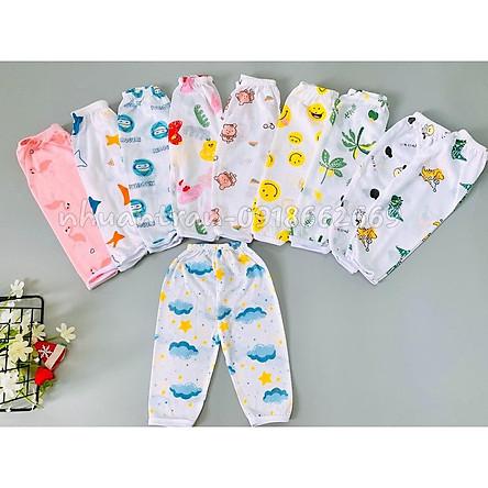 Set 10 quần dài cotton giấy bé trai, bé gái  3-15kg