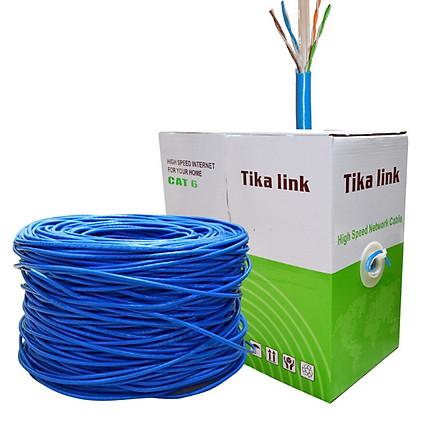 Dây cáp mạng cat 6 TiKa-Link 0986 full 305m tặng kèm Túi Hạt Mạng 100 hạt - Hàng chính hãng