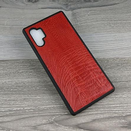 Ốp Lưng dành cho Samsung Galaxy Note 10 plus Da đà điểu không gù Chống Sốc