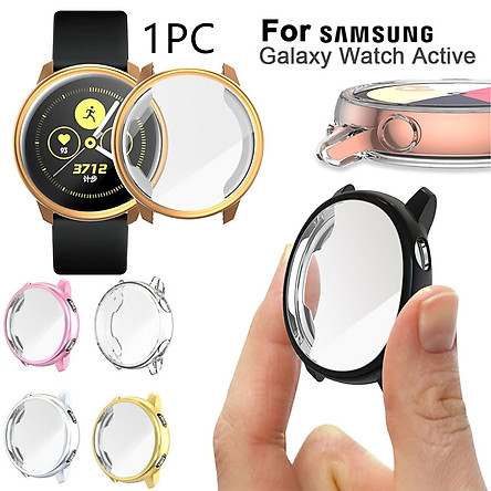 Fashion Active Slim Sleeve Case Anti Scratch Skin Sleeve wrap Smart Band Bumper Screen Cover Film Full Coverage Watch TPU Case For Samsung Galaxy Watch