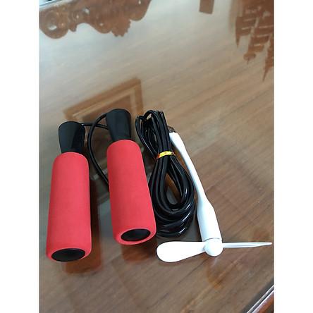 Dây nhảy thể dục,chất liệu PVC 3m tùy ý điều chỉnh- TẶNG KÈM QUẠT USB