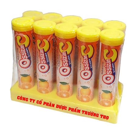 Combo 10 túyp sủi vitamin Ossizan C vị cam giúp bổ sung năng lượng, tăng  sức đề kháng   Tiki