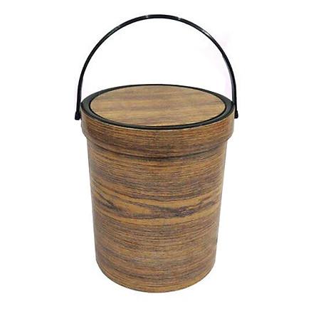 Thùng rác vân gỗ - Màu ngẫu nhiên