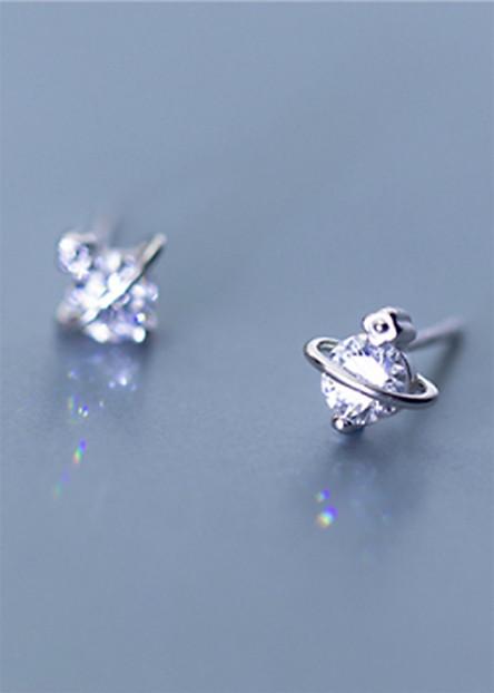 Bông Tai Nữ | Bông Tai Nữ Bạc Đơn Giản B2422 - Bảo Ngọc Jewelry