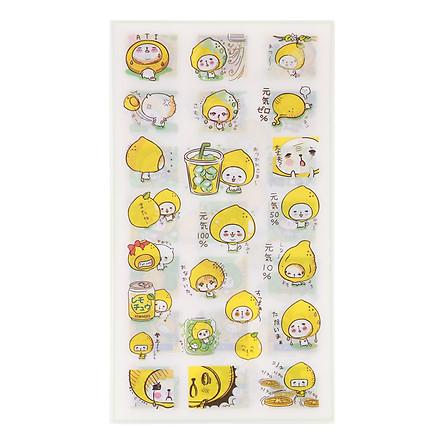 Bộ 6 Tấm Sticker Dán Trang Trí - Lemon