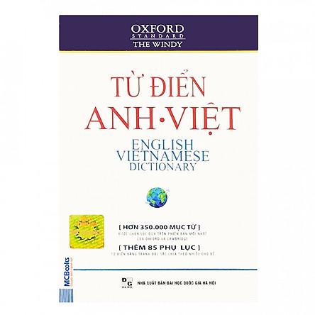 Từ Điển Oxford Anh - Việt (Hơn 350.000 Từ) (Bìa Mềm Màu Trắng) (tặng sổ tay mini dễ thương KZ)