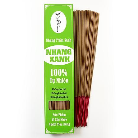 Nhang Xanh  40cm - 500g - Chân Tăm Đỏ - ít khói - mùi hương trầm dịu nhẹ - Chuyên dùng cho phòng máy lạnh - Nhang Thiền