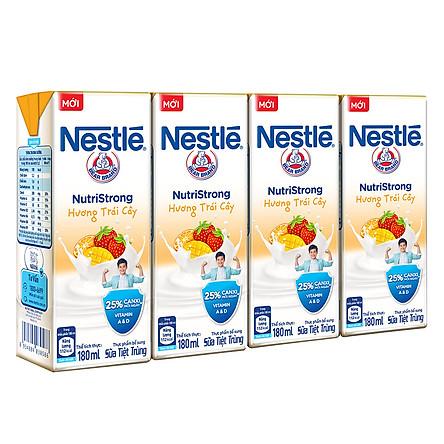 Lốc 4 Hộp Sữa Nước Nestlé Uống Liền Hương Trái Cây (180ml x 4)