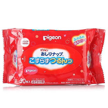 Khăn Giấy Uớt Lụa Pigeon (30 Miếng) - Hàng Nhập Khẩu