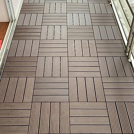 Combo 11 viên sàn gỗ composite vỉ nhựa