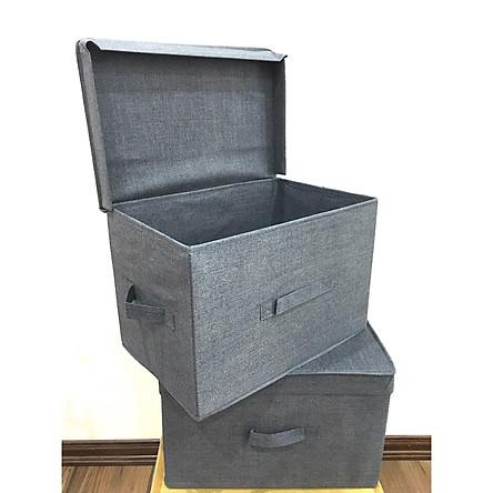 Combo 2 hộp đựng quần áo Việt Nam phong cách Nhật Bản (38x25xH25cm)
