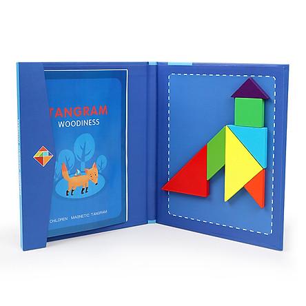 Đồ chơi hình học TANGRAM giúp bé phát triển trí não từ nhỏ qua 7 mảnh ghép gỗ thông minh dành cho bé thích khám phá