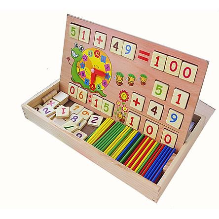 Bảng gỗ học toán luyện trí thông minh cho bé