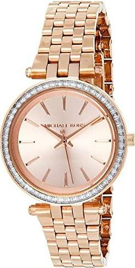 Michael Kors Women's Darci Watch- Glamorous Three Hand Quartz Movement Wrist Watch with Crystal Bezel