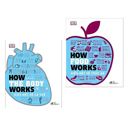 Combo Sách Chăm Sóc Sức Khỏe Hay : How The Body Works - Hiểu Biết Về Cơ Thể + How Food Works - Hiểu Biết Về Thức Ăn ( Tặng Kèm Postcard HAPPY LIFE )