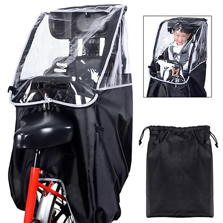Kids Bicycle Rear Seat Waterproof Rain Cover Sunshade and Blackout Protector Universal Outdoor Durable Transparent Wind Protection for Trekking Bike