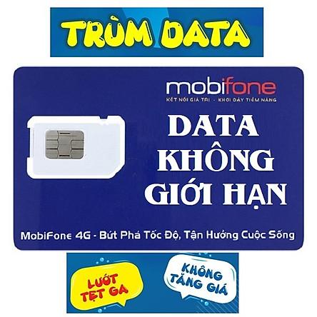 SIM 4G MOBIFONE TRÙM DATA - ĐẦU SỐ 09 - KHÔNG GIỚI HẠN DUNG LƯỢNG - Đăng Ký Đúng Chủ (120k/tháng: 2Gb/ngày, hết 2Gb dùng không giới hạn với tốc độ 2Mbps, Gọi miễn phí: nội mạng 500ph, ngoại mạng 30ph)