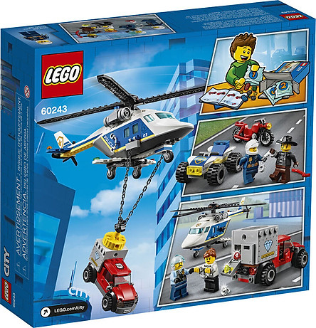Mô hình đồ chơi lắp ráp LEGO CITY  Trực Thăng Truy Bắt Tội Phạm 60243 ( 212 Chi tiết )