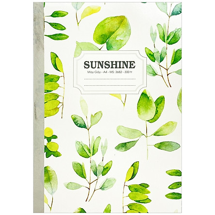 Sổ May Gáy Sunshine A4 300 Trang 3682 - Plants