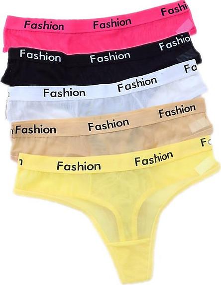 Combo 5 quần lót nữ, quần lọt khe lưới thoáng mát, sexy ZBra (Màu ngẫu nhiên)