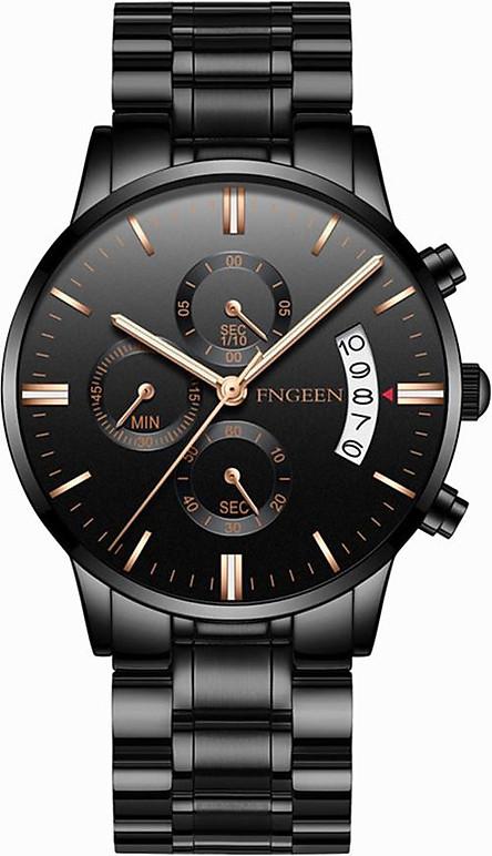 Đồng hồ nam FNGEEN 5055 lịch ngày chính hãng nam sinh viên thể thao thạch anh đồng hồ thời trang chống thấm nước xu hướng thời trang dây hợp kim thép không gỉ
