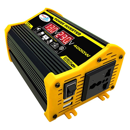 Power Inverter Car Inverter BLACK 4000W 2 USB Transformer Adapter