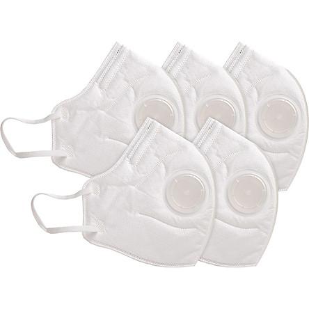 Khẩu Trang Chống Bụi 3D Cao Cấp N96+ (Có Van) Safelife Safemask (Hộp 5 Cái)