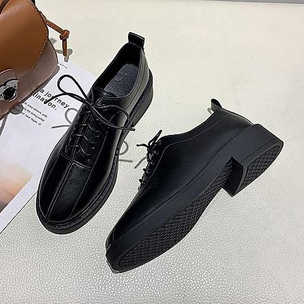Giày Da Oxford Đế Dày 3cm Thời Trang Cho Nữ