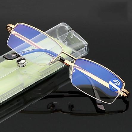 Kĩnh lão thị titan siêu bền trung niên mắt cực rõ và sáng gọng màu gold cực sang độ +1.00 đến +4.00 kv5p