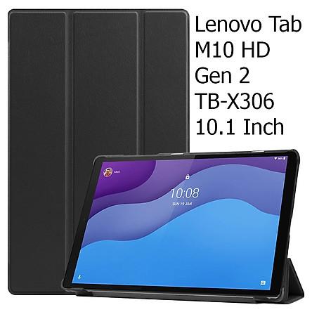 Bao Da Cover Dành Cho Máy Tính Bảng Lenovo Tab M10 Gen 2 TB-X306 10.1 Inch Hỗ Trợ Smart Cover