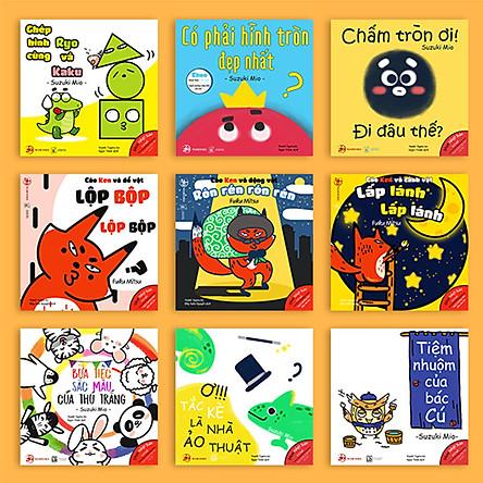 Combo 9 cuốn Ehon Nhật Bản và sách dạy con kiểu Nhật