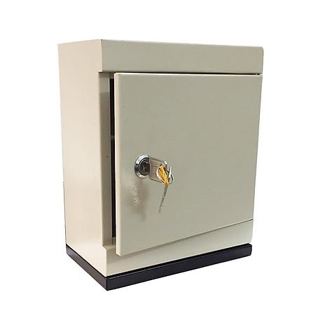 Két sắt mini loại lớn 20 x 12 x25 cm khoá chìa có rãnh nhét tiền tiết kiệm XCTL06