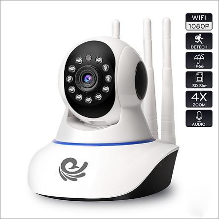 Camera IP Quan Sát CareCam 3 Râu Độ Phân Giải 2.0Mpx Xoay Theo Chuyển Động, Đàm Thoại 2 Chiều, Hú Báo Động, Xem Cùng Lúc 4 Camera - Chính Hãng