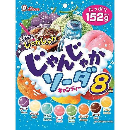 Kẹo Lion Soda vị trái cây tổng hợp gói 152gr (8 vị)