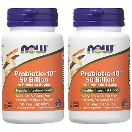 Viên Uống Now Foods Probiotic10 50 Billion