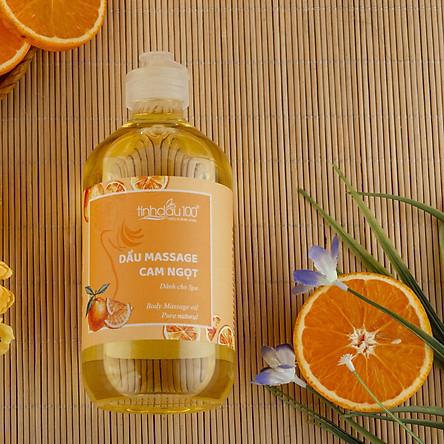 Dầu massage body Cam ngọt dành cho Spa và Gia Đình - Dưỡng da, Thư giãn 500ml
