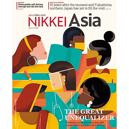 Nikkei Asian Review: Nikkei Asia - 2021: THE GREAT UNEQUALIZER - 10.21, tạp chí kinh tế nước ngoài, nhập khẩu từ Singapore