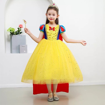 Váy  Bạch Tuyết Cho Bé Gái Kèm Áo Choàng Dài - HME70