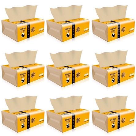 Giấy ăn gấu trúc sợi tre siêu dai (15 gói) an toàn khi sử dụng, giấy ăn an toàn không chất tẩy trắng