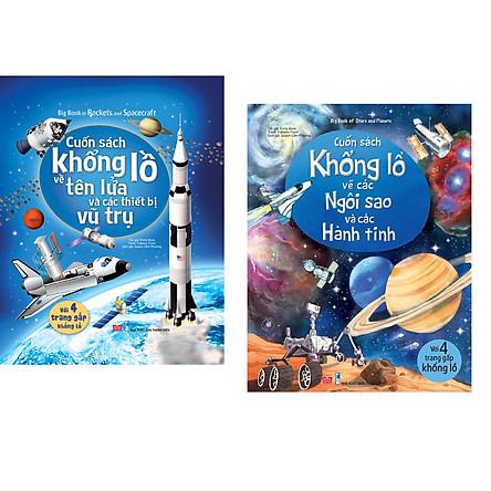 Combo 2 Cuốn: Big Book Of Stars And Planets - Cuốn Sách Khổng Lồ Về Các Ngôi Sao Và Các Hành Tinh + Big Book Of Rockets And Spacecraft - Cuốn Sách Khổng Lồ Về Tên Lửa Và Các Thiết Bị Vũ Trụ