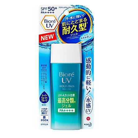 Gel chống nắng màng nước Biore UV Aqua Rich Water Gel SPF 50+/PA++++ tuýp 90ml