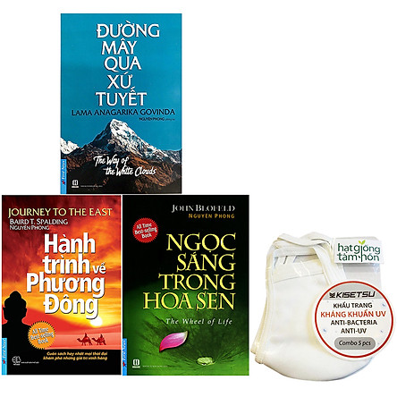 Combo 3 Tựa Sách: Ngọc Sáng Trong Hoa Sen (Tái Bản 2019) + Hành Trình Về Phương Đông (Tái Bản 2019) + Đường Mây Qua Xứ Tuyết (Tái Bản)(Ép Tặng Kèm 5 Khẩu Trang)