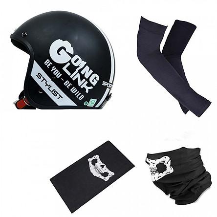 Combo đi phượt Chita CT1 - Goinglink cao cấp tiện dụng (Nón bảo hiểm, găng tay, khăn đa năng)