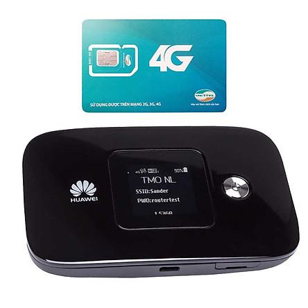 Huawei E5786 | Thiết bị phát wifi 3G/4G tốc độ download lên đên 300 Mbps + Sim Viettel 4G Siêu tốc khuyến Mãi 60GB/Tháng - Hàng nhập khẩu