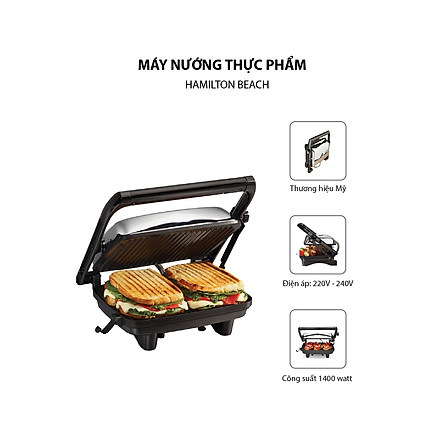 Máy Nướng thực phẩm Hamilton Beach - 25460-IN - Hàng chính Hãng