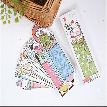 3 Bookmark Đánh Dấu Sách Mèo Đáng Yêu (Mẫu Ngẫu Nhiên)