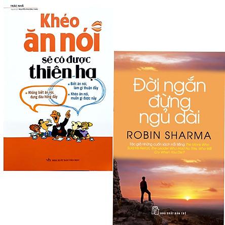 Combo 2 Cuốn Điều Vĩ Đại Trong Đời Thường : Khéo Ăn Nói Sẽ Có Được Thiên Hạ ( Tái Bản ) + Đời Ngắn Đừng Ngủ Dài (Tái Bản) / Kỹ Năng Giao Tiếp Và Sự Trải Nghiệm Đời Sống