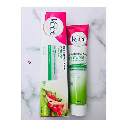 Kem tẩy lông da nhạy cảm Veet Sensitive Skin Hair Removal Cream With Natural Inspiration Of Grape Seed Oil 200ml