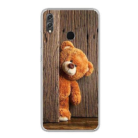 Ốp điện thoại Huawei Honor 8X - Silicon dẻo - 0136 TEDDY - Hàng Chính Hãng